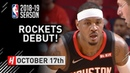 Carmelo Anthony Official Rockets Debut Full Highlights vs Pelicans 2018.10.17 - 9 Points!