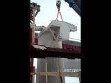 Распиловка опор моста через реку СОК г. Самара с помощью канатной стенорезной машины HILTI
