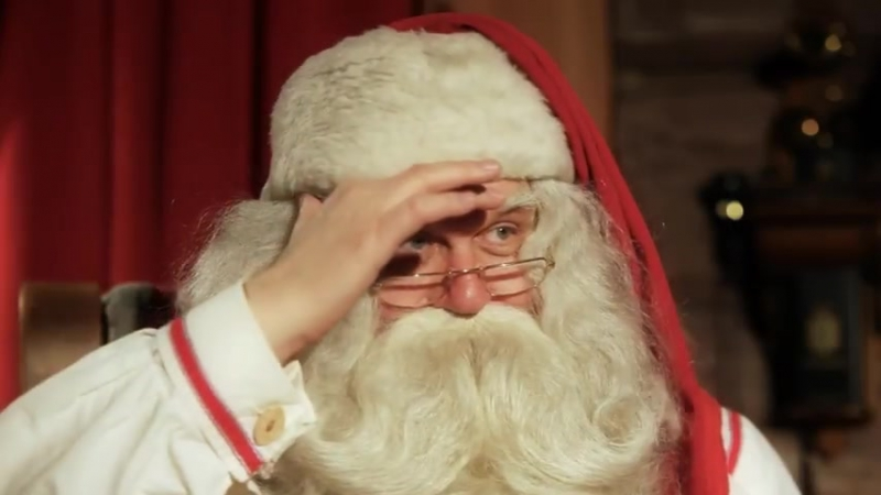 Message du Père Noël de la Laponie, Finlande, Rovaniemi - Papa Noël - YouTube (480p)