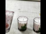 #наклейки на #стекло. Изготовили и замонтажили наклейки на стеклянные стаканы для свечей