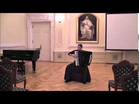 J.S.Bach - Prelude and fugue h minor GTK IIt. Agne Daucianskaite Accordion