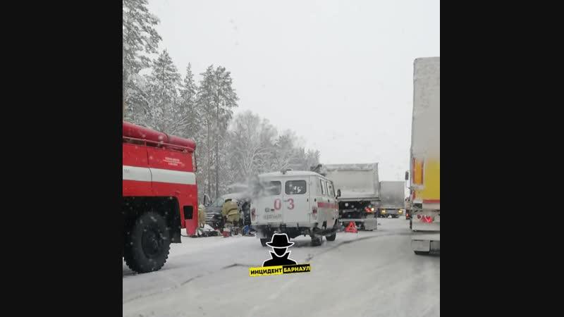 ДТП на Новосибирской трассе