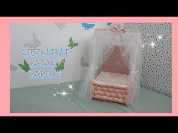 Cibinlikli Oyuncak Yatak Yapımı KENDİN YAP DIY DOLL BED