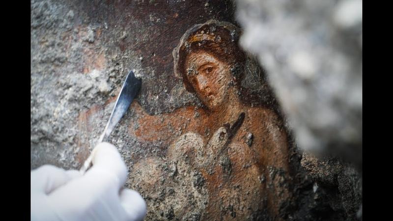 Nuove scoperte a Pompei: l'affresco di Leda e il cigno