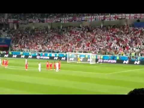 Ещё один вид пенальти Англия-Тунис с трибуны. Эмоции на стадионе зашкаливали!