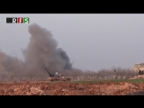 Сирия.16-01-2018.Су-25ВКС отрабатывают конвой боевиков ССА на юге провинции Идлиб