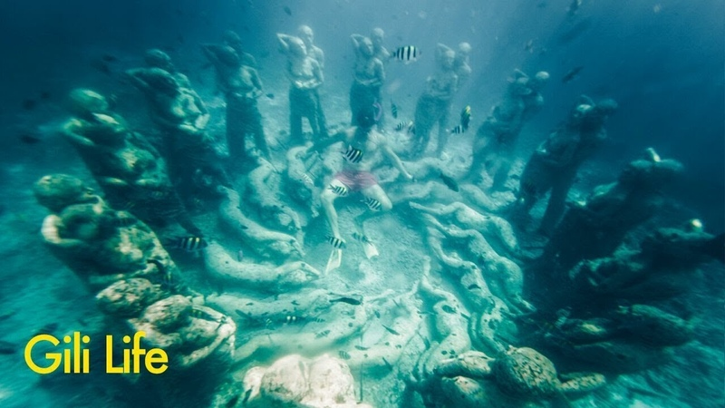 Underwater Statues of Gili Meno
