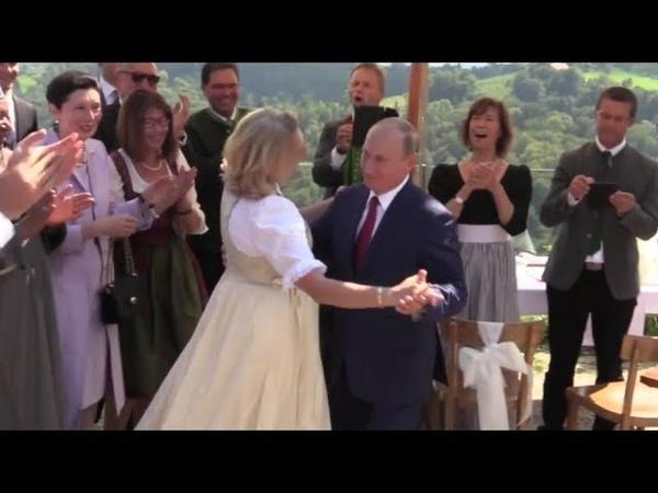 Kneissl Hochzeit in Österreich Putin hält Ansprache auf Deutsch und tanzt mit der Braut