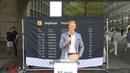 William Hahne talar på Sergels Torg 11 Augusti 2018