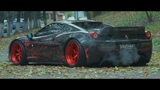 Ukraine 11 Only Ferrari 458 Liberty Walk ARMYTRIX Titanium Exhaust Vossen Wheels Lushyn Films