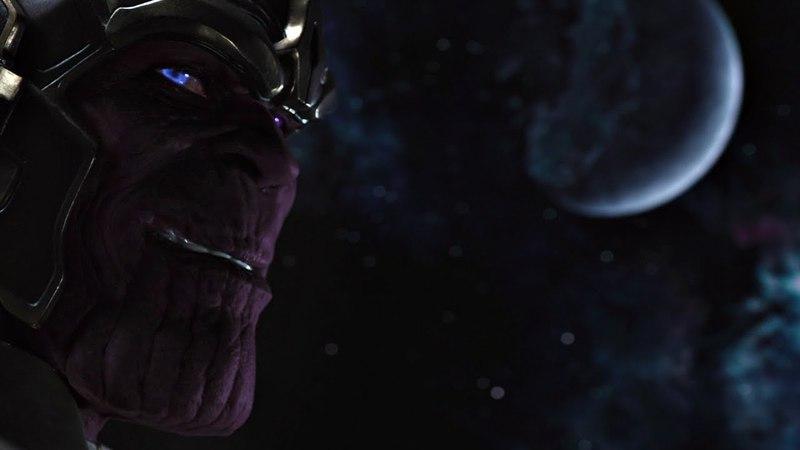 Первое появление Таноса. Сцена после титров. Угрожать им — это дразнить смерть! Мстители. 2012