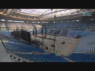 Как стадион на Крестовском из футбольной арены превращается в концертную площадку