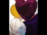 Большой фонтан из шаров - семицветик