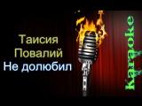 Таисия Повалий - Не долюбил ( караоке )