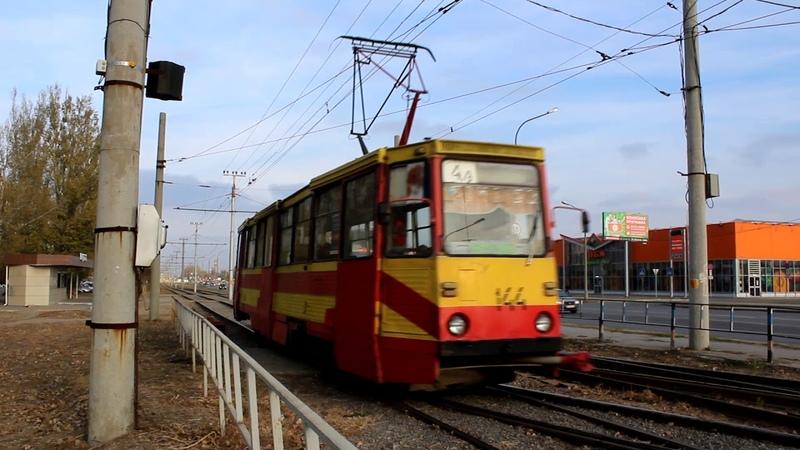 Движение трамваев на останове ул Дружбы в будние дни