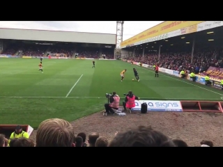@demetrimitche11 with some absolute filth today VS Motherwell. Wonder what sauce the boy had on his hot dog ️ - - Full Vlog of t
