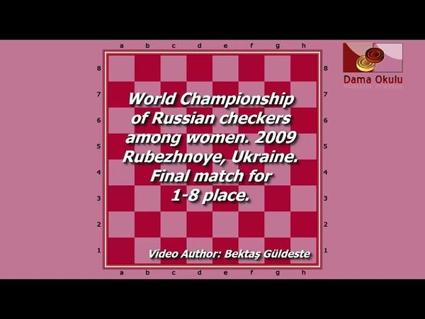 Motrichko Victoria (UKR) - Shestakova Nataliya (RUS). World Draughts-64_women-2009. Final.