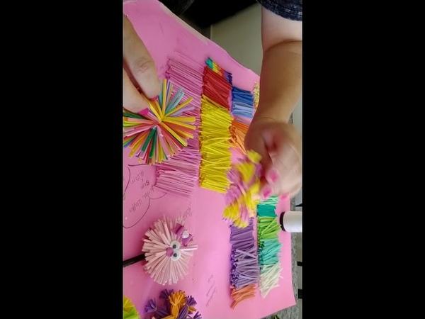 2° vídeo : Ponteiras descabelados e arrumados em e.v.a 💚💙💜❤️🧡💛