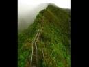 естница Хайку (Haiku) или лестница в небеса – живописная пешеходная тропа на острове Оаху на Гавайях