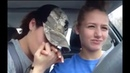 Woman serenades her girlfriend in the car 💕👩❤️💋👩 🎼