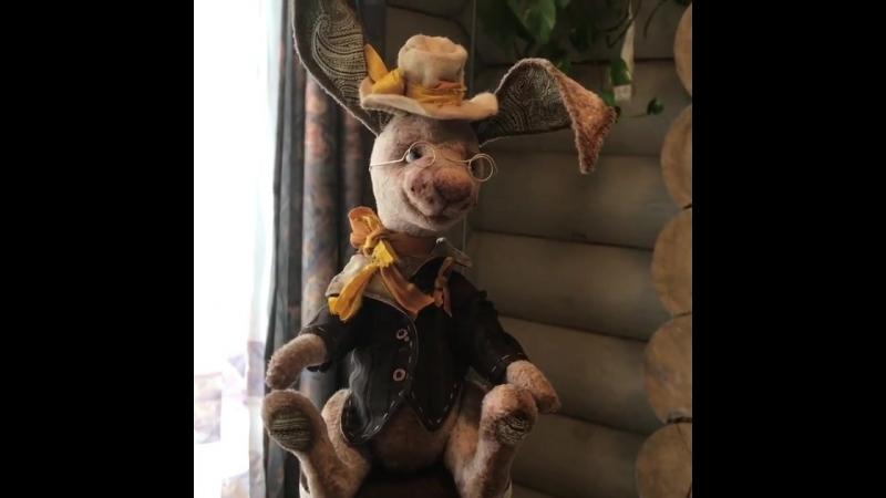 Наталия Матвеева - анонс МК Создание авторской игрушки Кролик в стиле тедди