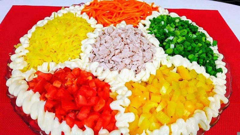 Праздничный Салат Калейдоскоп Безумно Вкусный и Красивый Салат на Праздничный Стол holiday salad