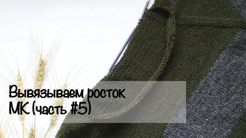 МК для начинающих   Вяжем росток   Свитер регланом снизу   Вязание спицами
