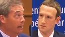 Nigel Farage MOPS THE FLOOR With Mark Zuckerberg