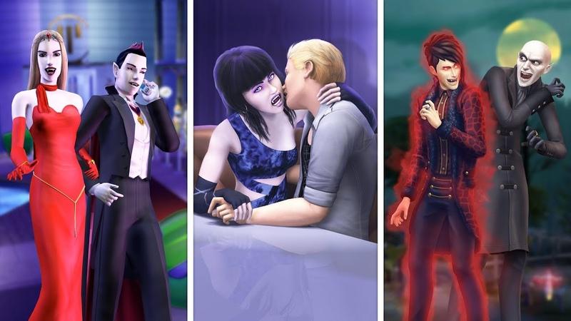 Вампиры в The Sims | Сравнение 3 частей