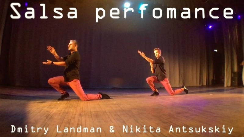 Salsa perfomance. Dmitry Landman Nikita Antsukhskiy || Dance Studio 25.5