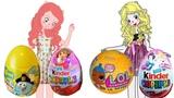 #СЮРПРИЗЫ для девочек Распаковка киндер сюрприз Даша,,Смешарики,Лол,Принцессы диснея.