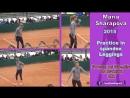 2015 Maria Sharapova - Practice in spandex Leggings 01