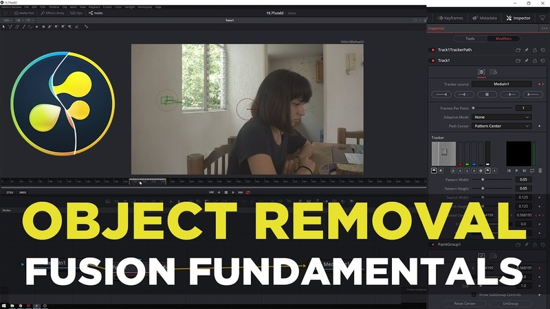 Object Removal/Clone Stamping! Davinci Resolve 15 Fusion Fundamentals Tutorial