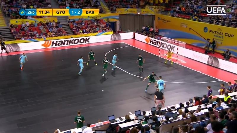 КубокУЕФА FutsalUEFACup МАТЧ ЗА 3-е МЕСТО. Дьер (Венгрия) v Барселона (Испания). 17. Обзор.