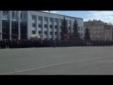 Внос государственного флага России и Знамя победы (парад 9 мая Космодром