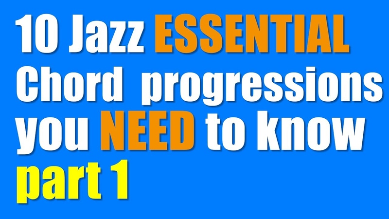 10 common Jazz ESSENTIAL Chord progressions you NEED to know PART 1
