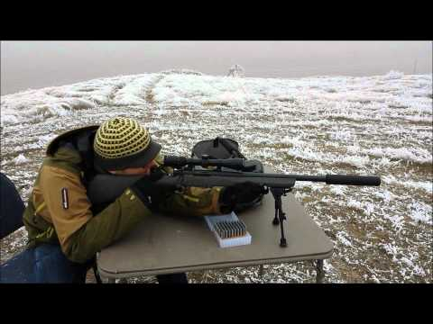 Shooting Remington 700 300 BLK Suppressed @ 100 Yards in Thick Fog at Steel