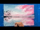 Watercolor and White Gouache CLOUDS Painting Demonstration