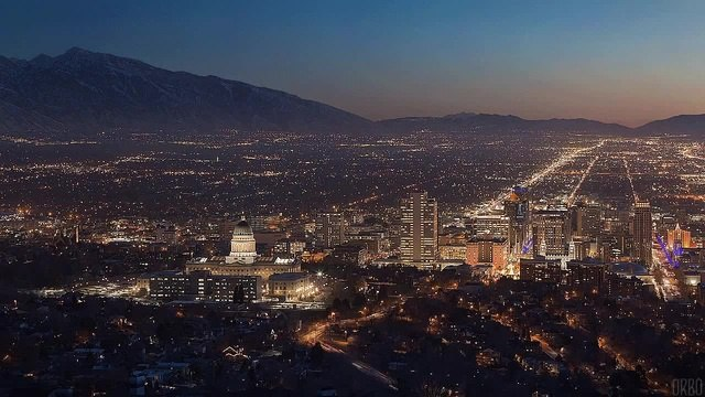 Salt Lake City Skyline.