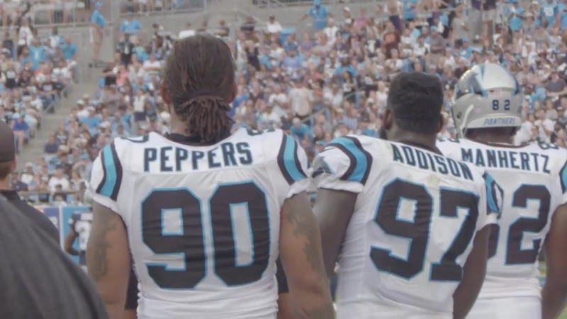 Julius Peppers micd up for season-opening win over Dallas