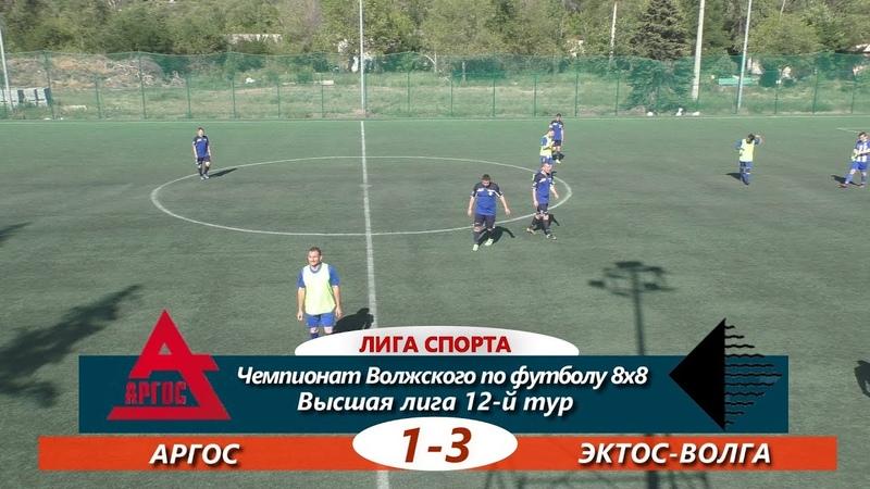 Высшая лига. 12-й тур. АРГОС-ЭКТОС-Волга 1-3 ОБЗОР