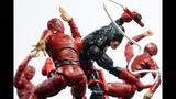 Hasbro Marvel Legends Spdr BAF wave DAREDEVIL Action Figures Review