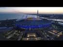 Вечерний Петербург. Полёт над стадионом Зенит Арена. Закат на финском заливе