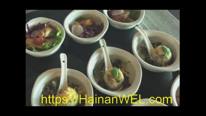 Кафе- шведский стол в Санья, остров Хайнань, Китай -экскурсия на видео
