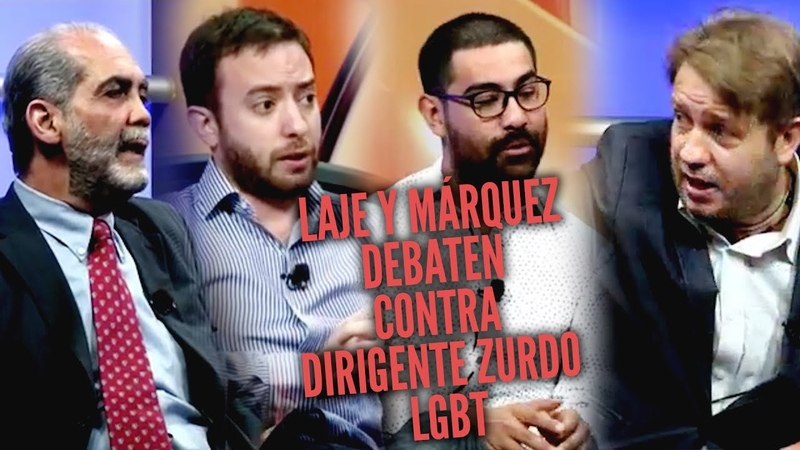 Laje y Márquez debaten contra dirigente zurdo LGBT