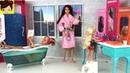 Rutina de Noche en Casa de Barbie y Sus Hermanas Barbie Dormitorio y Baño Juguetes de Titi