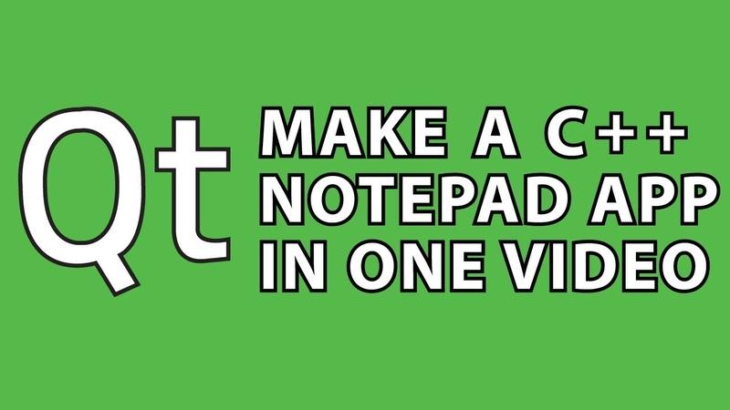 Qt Tutorial : C Notepad App