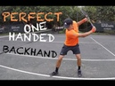How To Hit Perfect One Handed Backhand like Dominic Tim
