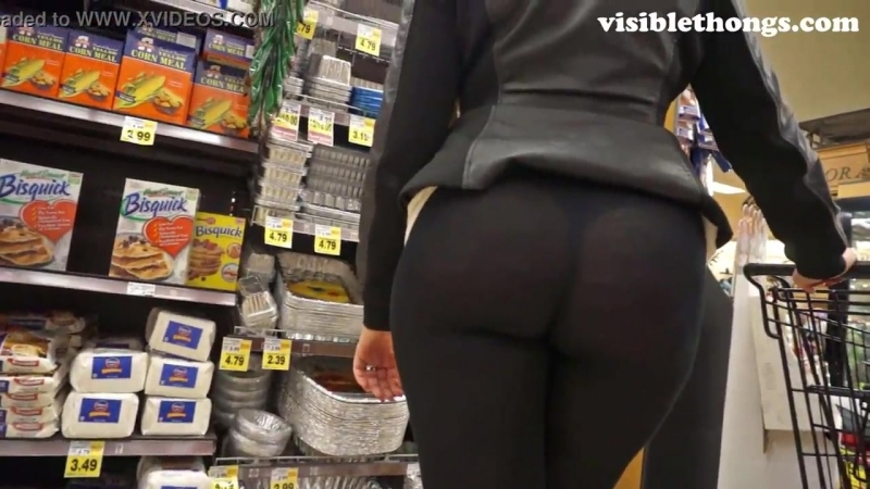 See-Through Leggings Visible Thong Booty