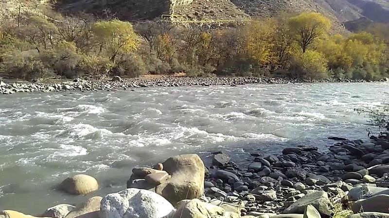 2 Река Андийское Койсу у села Гегатли-Урух, Цумадинский район, ноябрь 2018   туризм в Дагестане